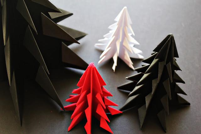DIY Origami Christmas Tree : 折り紙 ツリー 平面 : すべての折り紙