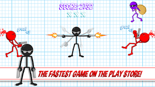 Screenshots of the Gun Fu: Stickman for Android tablet, phone.