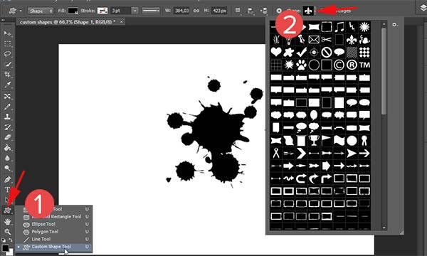 how to use the talk shape tool photoshop