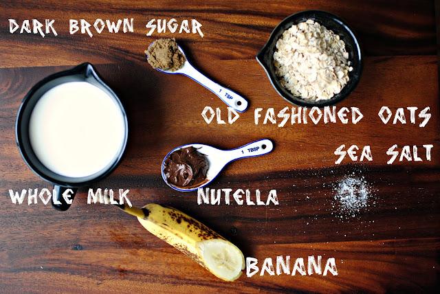 Nutella Oatmeal l SimplyScratch.com