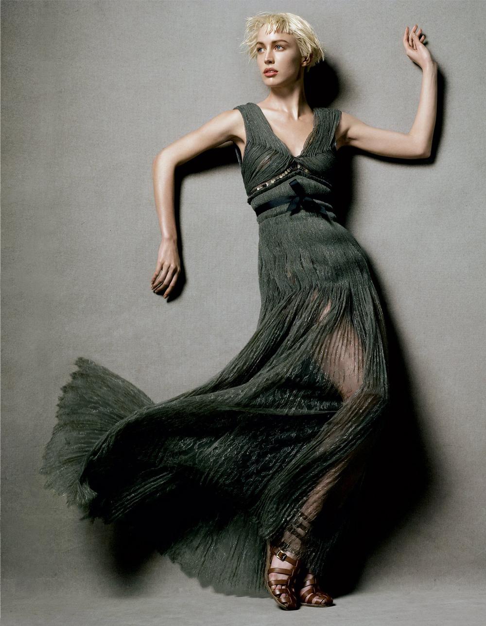 Raquel Zimmermann in Lanvin by Alber Elbaz in Vogue US December 2004 (photography: Steven Meisel) via www.fashionedbylove.co.uk