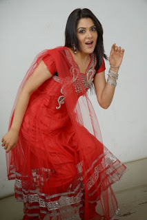 Actress Sakshi Choudhary Latest Picture Gallery in Red Salwar Kameez 0032.JPG
