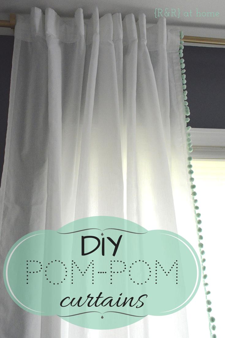 R R At Home Diy Pom Pom Trim Curtains