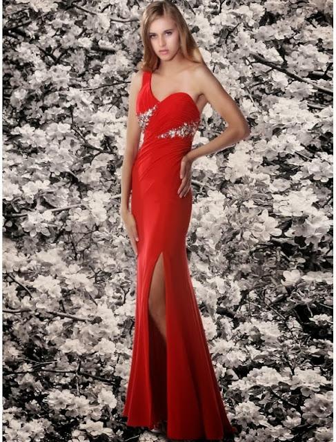 chiffon high slit evening dress