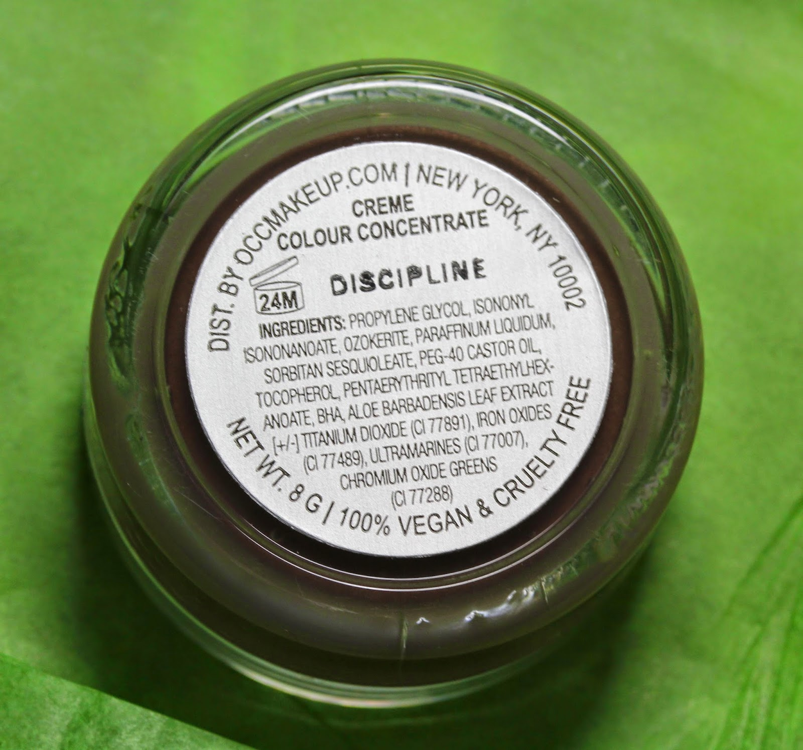 OCC Creme Colour Concentrate in Discipline