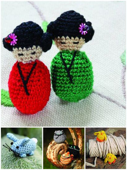 crochet projects from Mini Amigurumi by Sara Scales