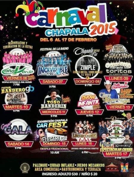 artistas carnaval chapala 2015