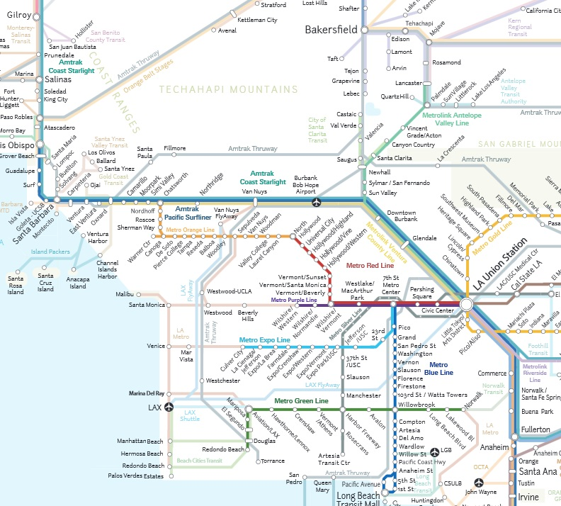 Map of the Week: California Rail Map