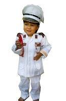 kostum profesi TNI AL anak