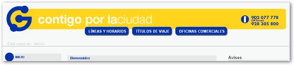 Pagina Web de Guaguas Municipales S.A., información diaria actualizada,  etc., pinchar leer