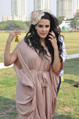 neha dhupia at 3rd asia polo match 2012 hot images
