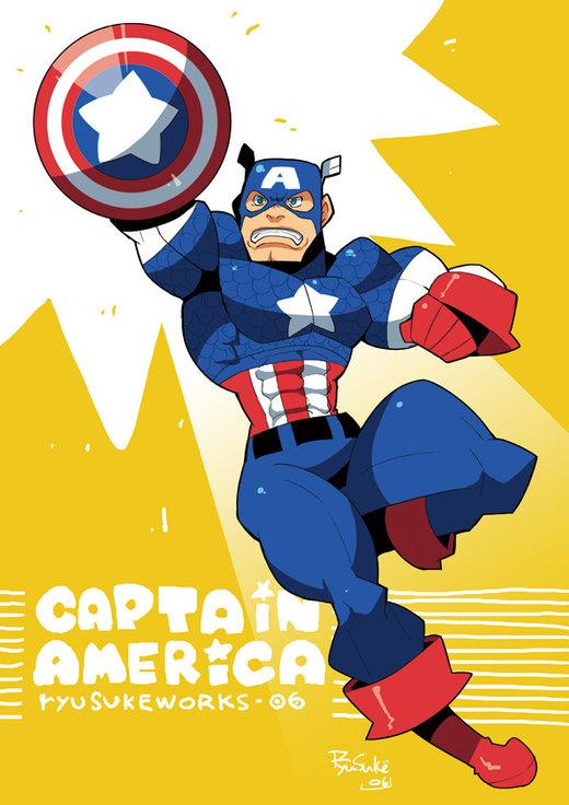 CAPTAIN AMERICA por RyusukeHamamoto