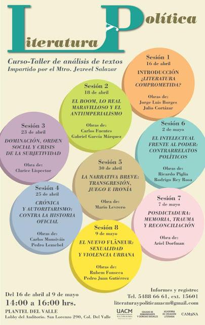 Literatura y Política, curso para analizar textos en la UACM