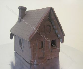 medium chocolate house