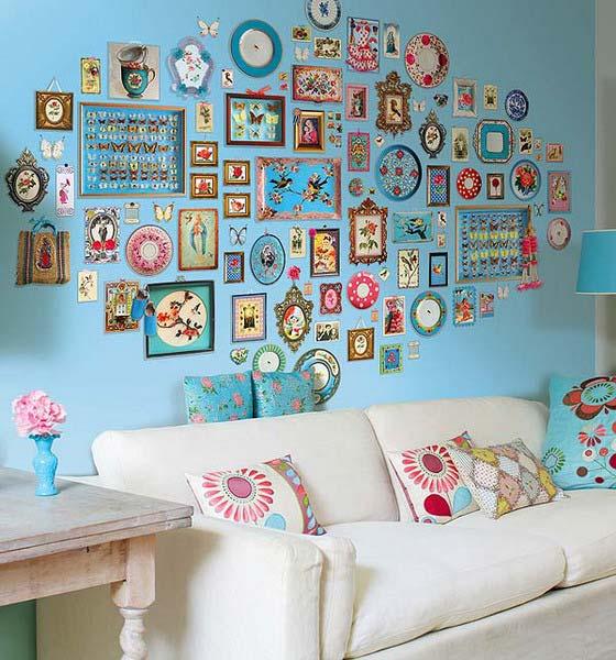 оригинальное оформление стен, декор стен