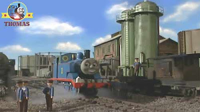 Saddle train Thomas tank engine fuel depot important rescue emergency voyage blue mountain quarry