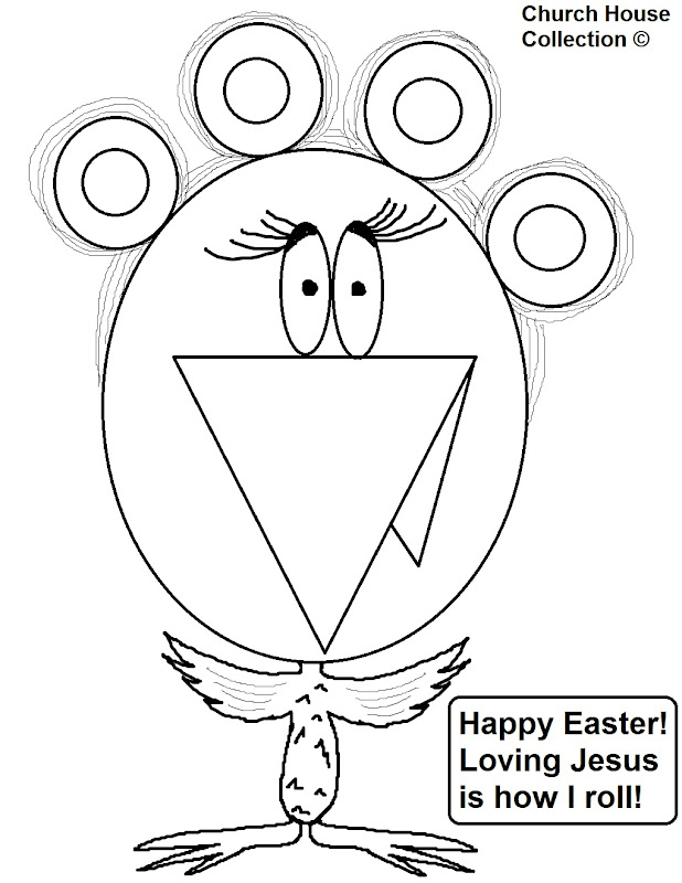 Printable Christian Easter Coloring Page- printable version title=