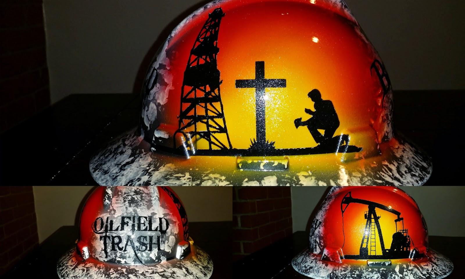 custom painted praying roughneck hard hat