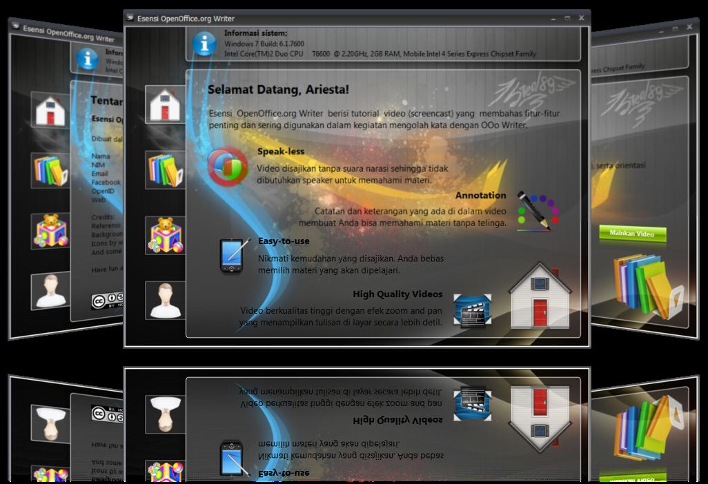 Esensi OpenOffice.org Writer versi desktop