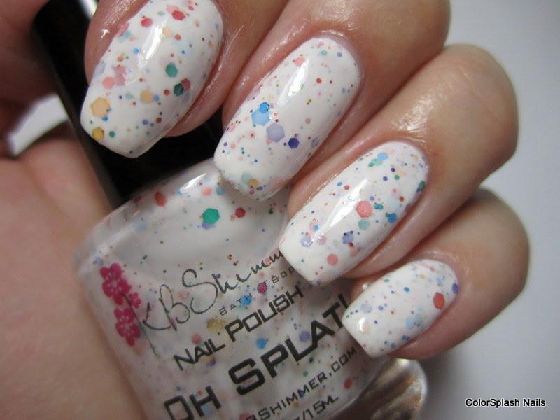 Colorsplash Nails: KB Shimmer Oh Splat!