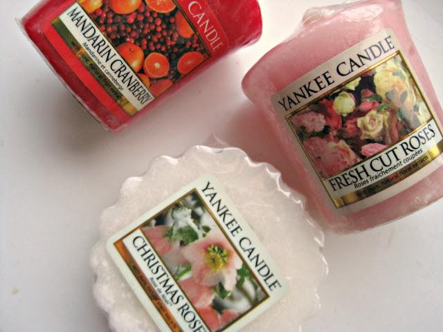 yankee candle fresh cut roses mandarin spice christmas rose