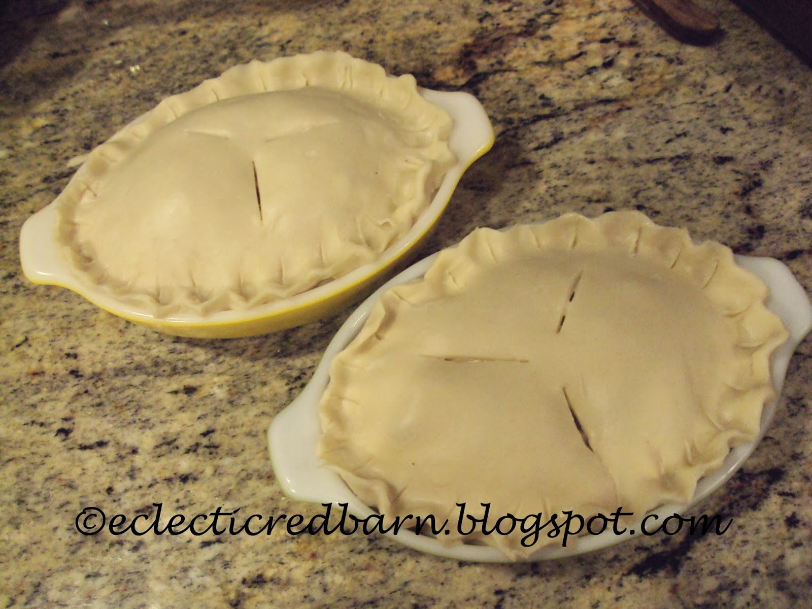 Eclectic Red Barn: Individual turkey pot pies