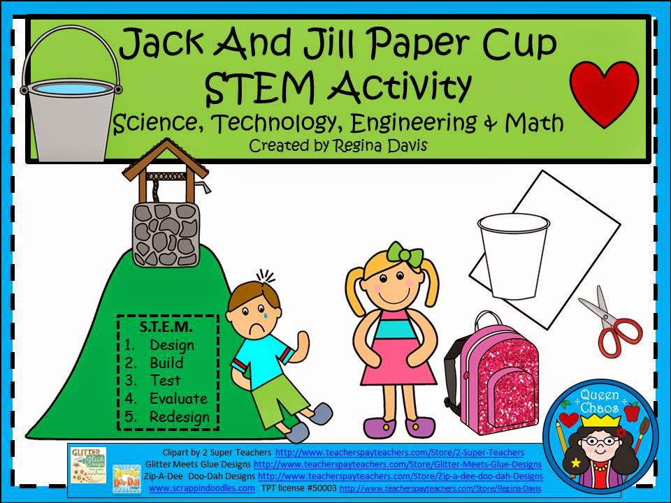 http://www.teacherspayteachers.com/Product/A-Jack-And-Jill-Paper-Cup-STEMScience-Technology-Engineering-Math-1256182