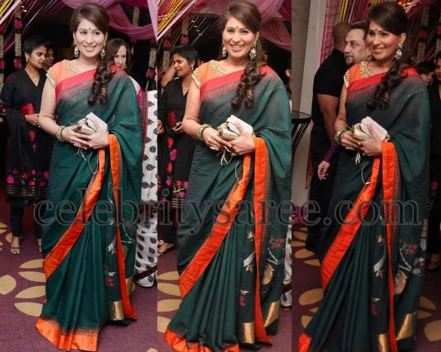 Shreedevi Green Designer Saree