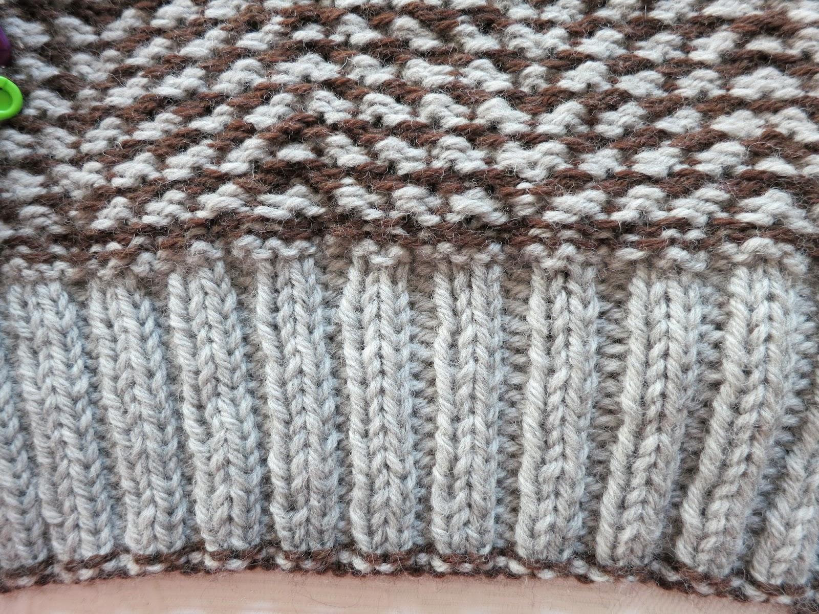 Mosaic Knitting : Chocolate à chuva on mosaic knitting