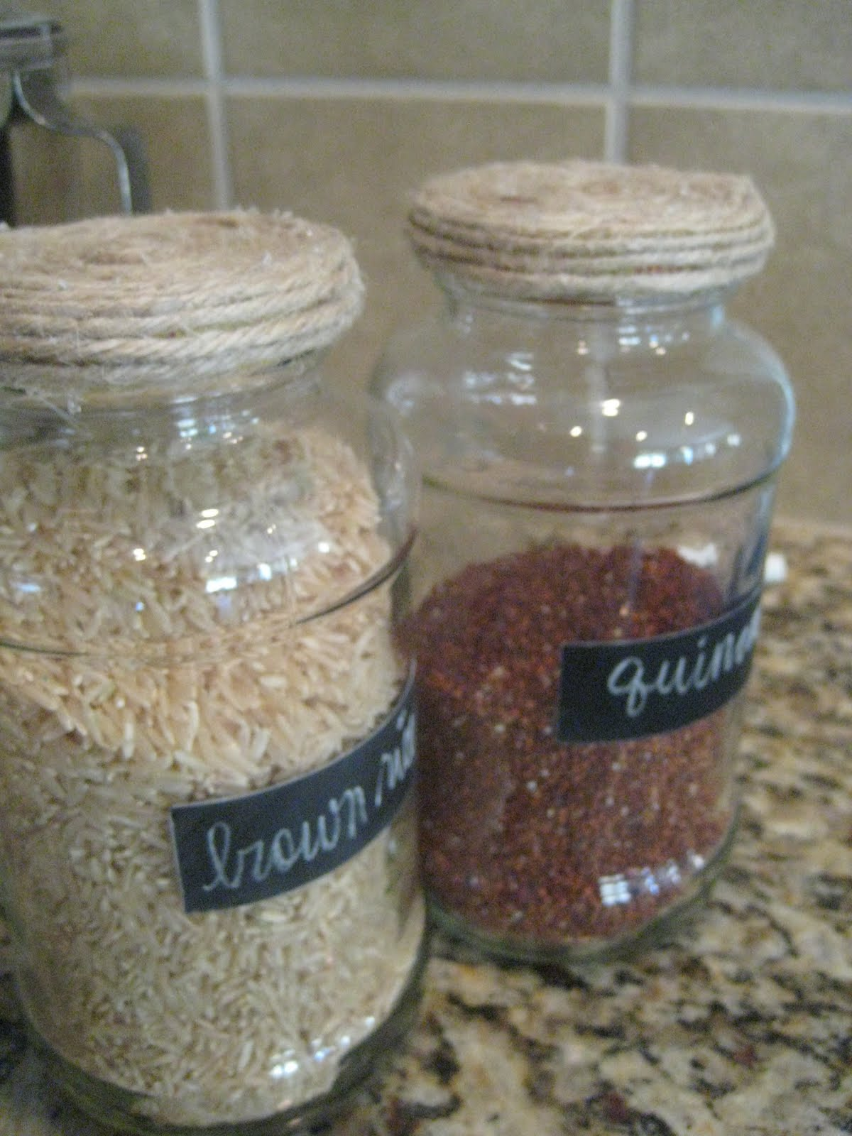 Recycled Jars To Chalkboard Containers