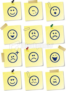 Maybe I should draw my emotions on my sticky notes. Would that help my