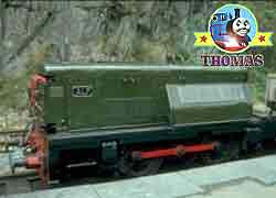 Thomas tank train character Alf the train is a small railroad narrow gauge Diesel Talyllyn Railway