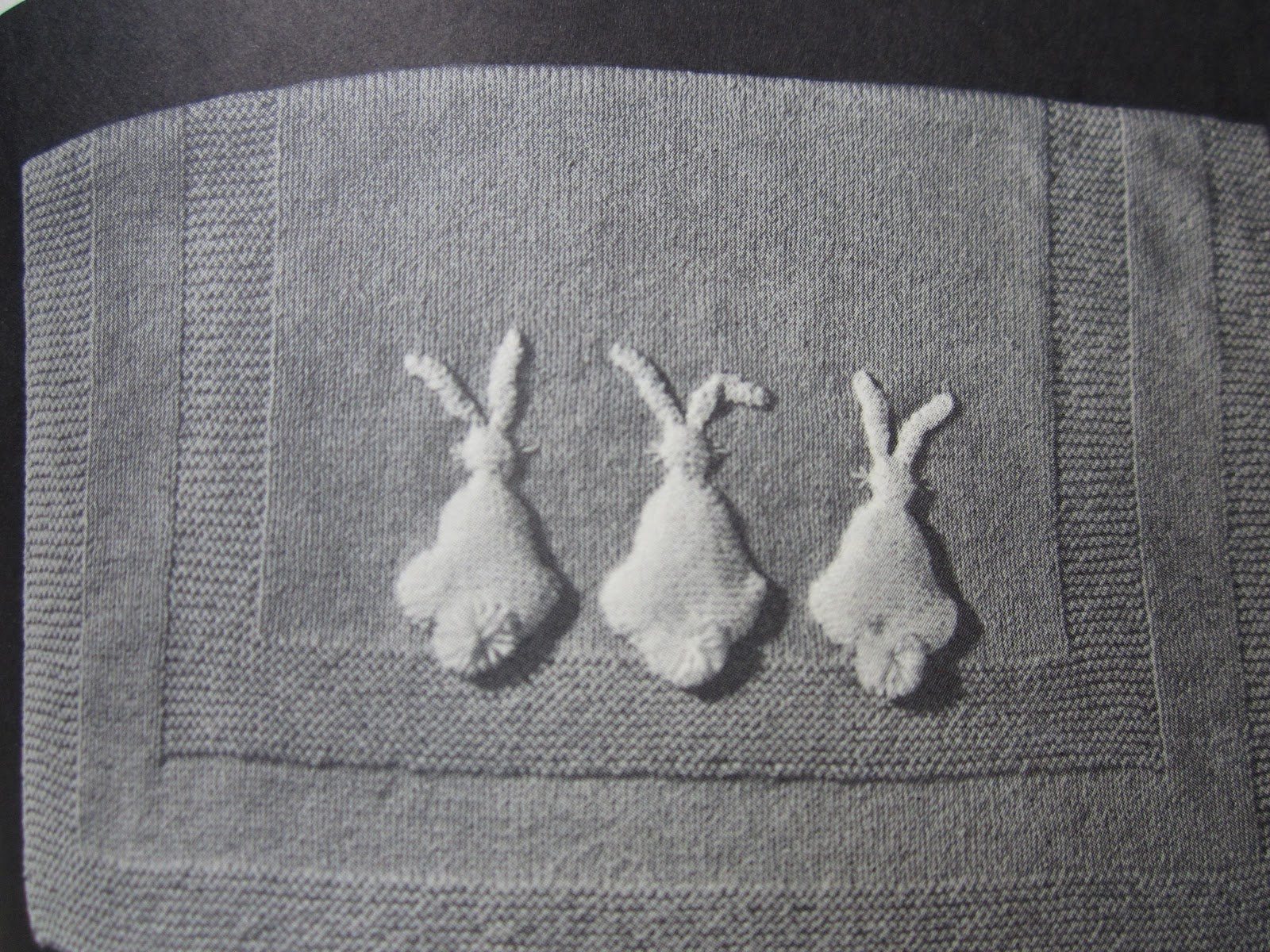 Knitted Bunny Blanket Pattern Choice Image - handicraft ideas home ...