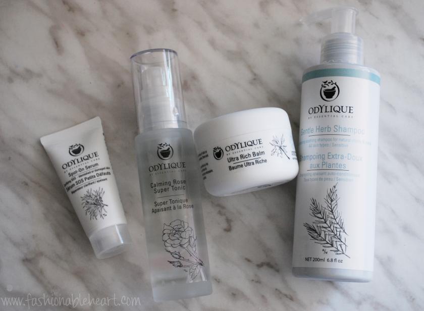 odylique skincare serum shampoo balm tonic