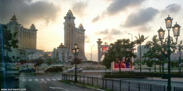 Anochecer en el casino The Venetian de Macao