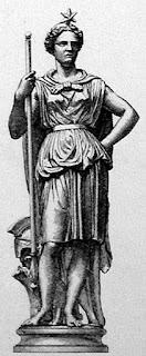 Aullène (France) et Olinda (Brésil) : statue de la Liberté du catalogue des fonderies du Val d'Osne
