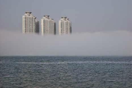 Pantai Berselimut Kabut (Unik) Terjadi Di Tiongkok