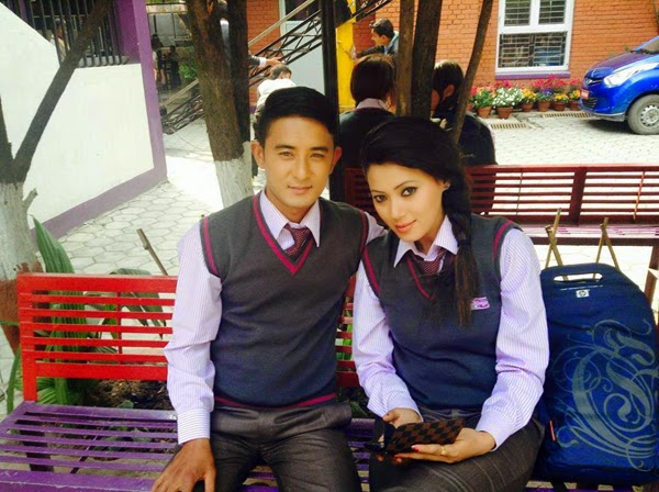 Vicky Malla and Harshika Shrestha