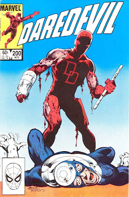 Daredevil v1 #200 marvel comic book cover art by John Byrne
