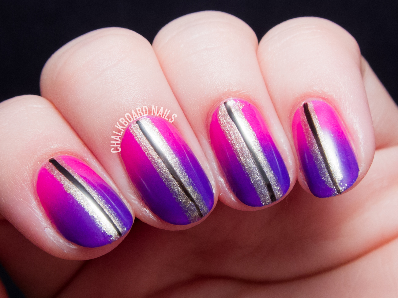 EverGlaze Gradient Nail Art by @chalkboardnails