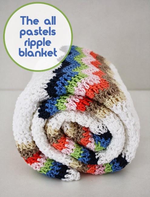 Crochet baby balnket pastels