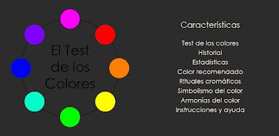 El Test de los Colores, aplicación para Android: Test de los Colores. Cromoterapia. Simbolismo del color. Armonías.