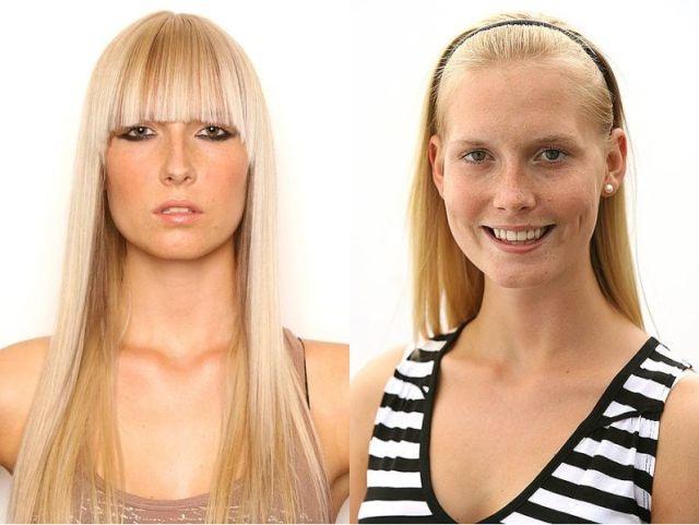 макияж до и после