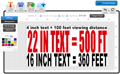 Text Sizes in the Online Designer