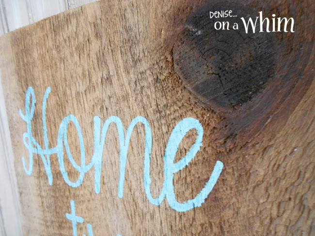 Home Tweet Home Barnwood Sign from Denise on a Whim