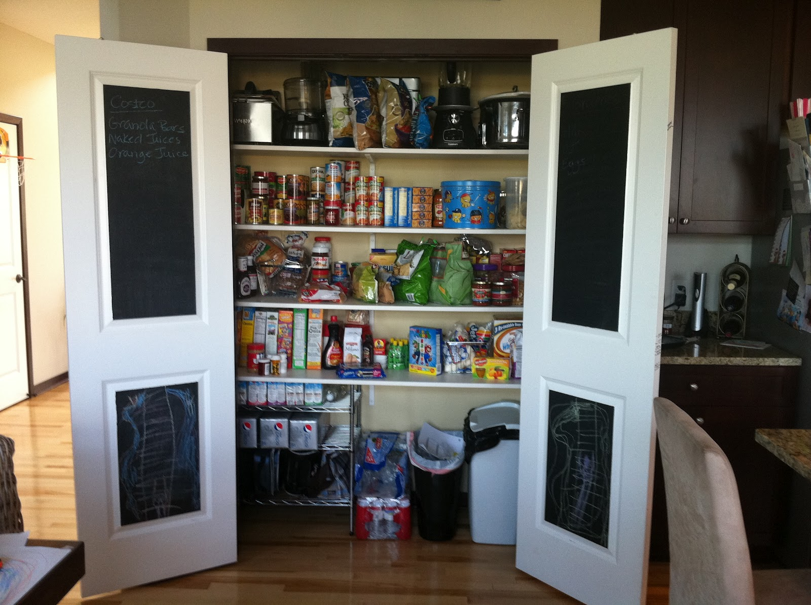 Pantry Chalkboards