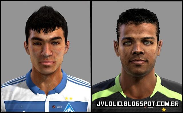 Face de Dudu do Dinamo de Kiev e Face de Giovanni do Atlético Mineiro para PES 2012 Download, Baixar Faces de Dudu e Giovanni para PES 2012