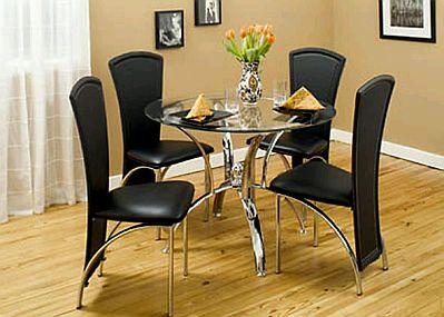 Muebles modernos de comedor de color negro for Mesa comedor pequena