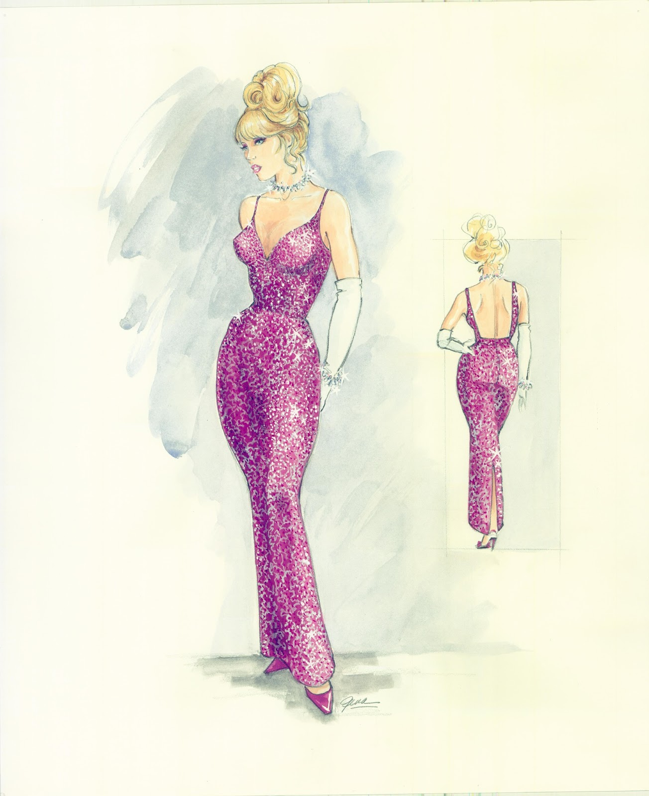 Barbie A Fashion Fairytale Dresses Sketches Finally  this pretty frock for