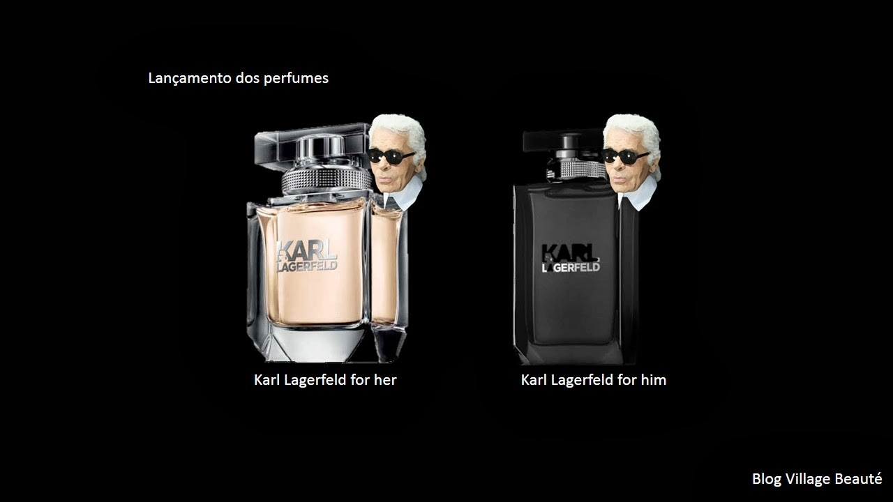 LANÇAMENTO DOS PERFUMES DO KARL LAGERFELD.